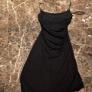 Strappy Black One Sided Dress